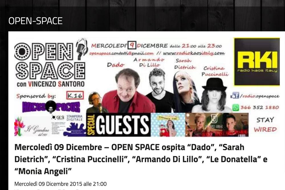 Cristina Puccinelli - Radio Kaos Italy